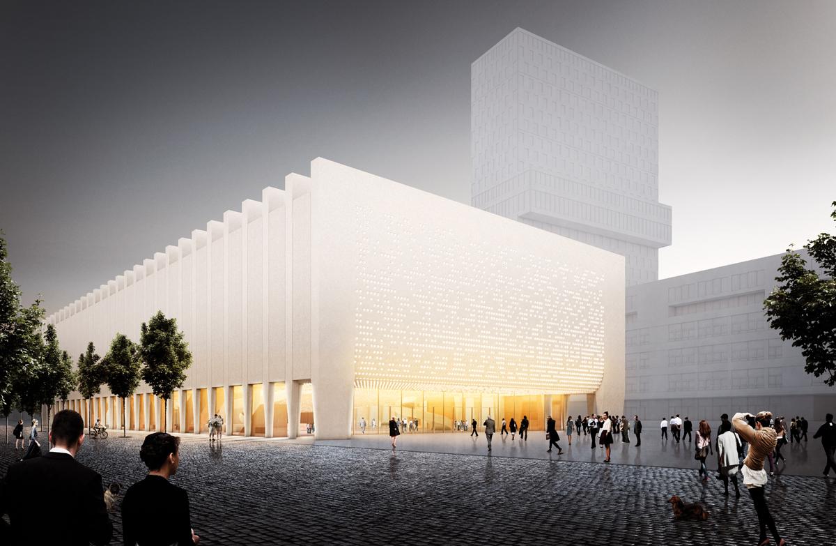 Der Fünfte Platz Geht An Staab Architekten GmbH Aus Berlin    Außenperspektive Des Entwurfs.